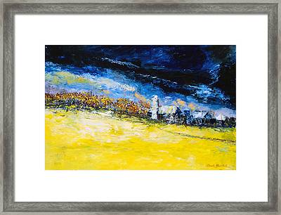 Thunderstorm Framed Print by Claude Marshall