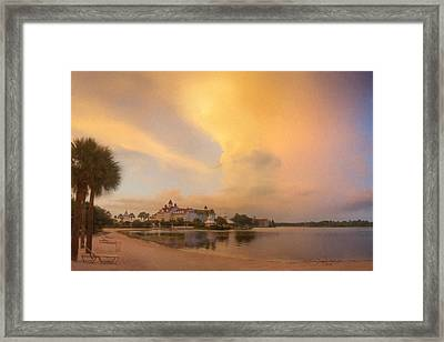 Thunderstorm Over Disney Grand Floridian Resort Framed Print