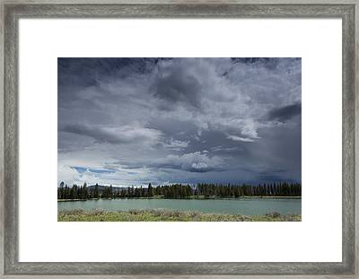 Thunderstorm Over Indian Pond Framed Print