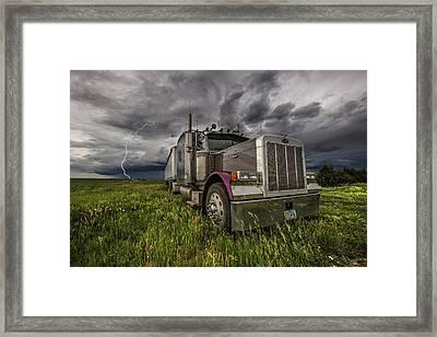 Framed Print featuring the photograph Thunderstruck by Aaron J Groen