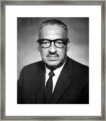 Thurgood Marshall 1908-1993 Pictured Framed Print by Everett
