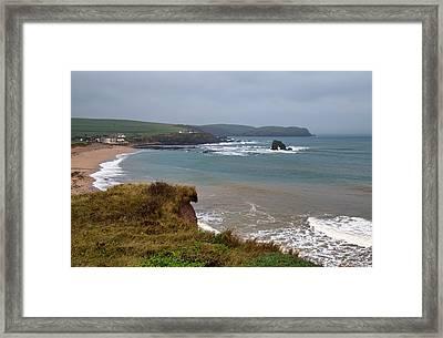 Thurlestone Rock Framed Print by Pete Hemington