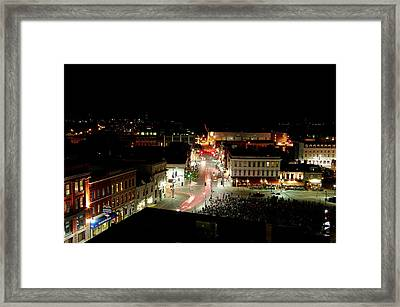 Thursday Night, Movies In The Square Framed Print