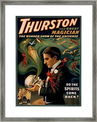 Thurston The Great Magician Framed Print by David Wagner