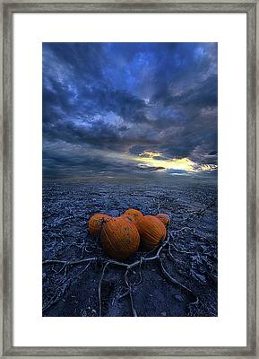 Thus Begins November Framed Print