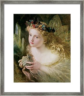 Thus Your Fairy's Made Of Most Beautiful Things Framed Print by Sophie Anderson