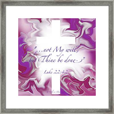 Thy Will Be Done Framed Print