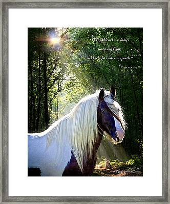 Thy Word Is Framed Print by Terry Kirkland Cook
