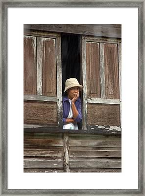 Tia 4 Framed Print by Jez C Self