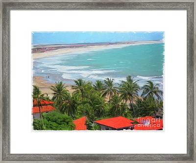 Tiabia, Brazil Beach Framed Print