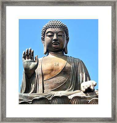 Tian Tan Buddha Framed Print