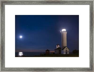 Framed Print featuring the photograph Tibbets Point Night by Mark Papke