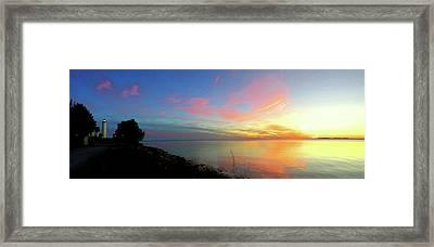 Sunset At Tibbetts Point Light, 2015 Framed Print