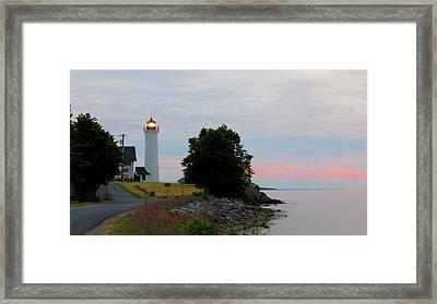 Tibbetts Point Light Sunset Framed Print