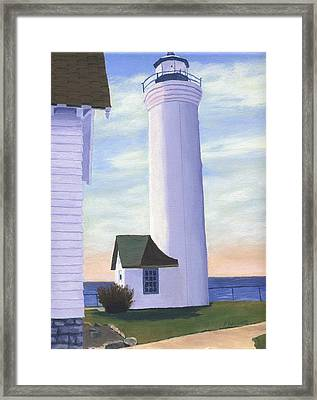 Framed Print featuring the painting Tibbett's Point by Lynne Reichhart
