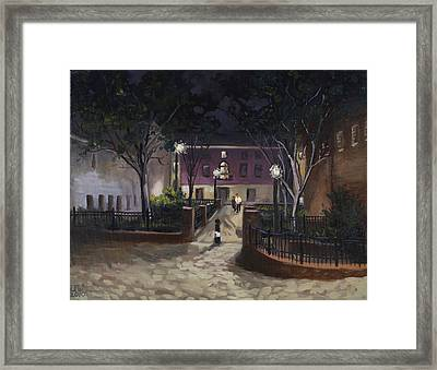 Tiber Park At Night Framed Print by Edward Williams