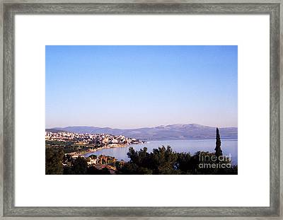 Tiberias Sea Of Galilee Israel Framed Print by Thomas R Fletcher