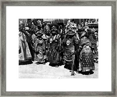 Tibet: Masks Framed Print