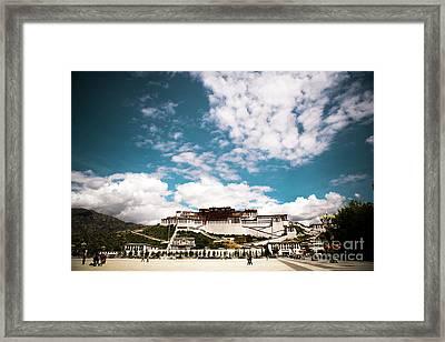 Tibet Potala Palace Dalai Lama Home Place. Kailash Yantra.lv 2016  Framed Print by Raimond Klavins