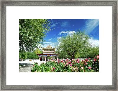 Tibet Scenery In Autumn Framed Print