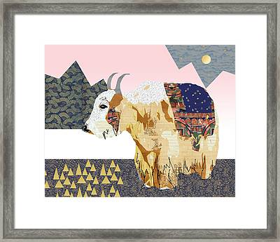Tibet Yak Collage Framed Print by Claudia Schoen