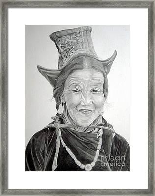 Tibetan Delight Framed Print by Enzie Shahmiri