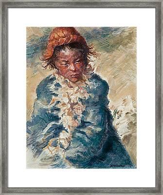 Tibetan Goatherd Framed Print by Ellen Dreibelbis