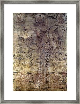 Tibetan Gouache Painting Framed Print by Granger