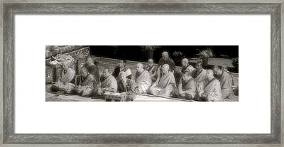 Tibetan Monks Framed Print by Kate Purdy