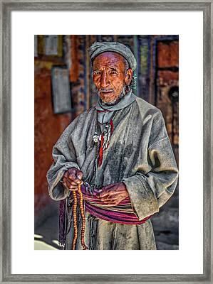 Tibetan Refugee Framed Print