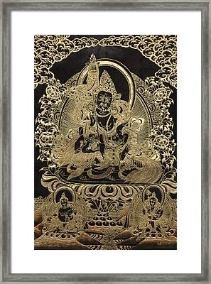 Tibetan Thangka - Vaishravana - God Of Wealth And Regent Of The North Framed Print by Serge Averbukh