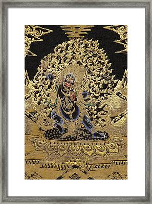 Tibetan Thangka - Vajrapani - Protector And Guide Of Gautama Buddha Framed Print
