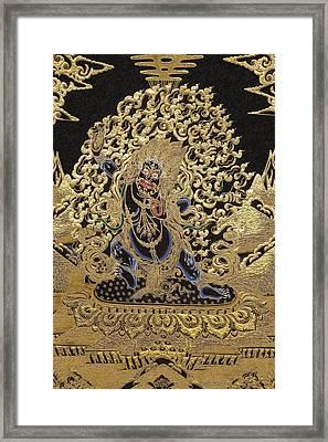 Tibetan Thangka - Vajrapani - Protector And Guide Of Gautama Buddha Framed Print by Serge Averbukh