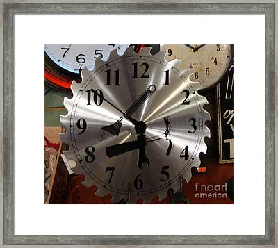 Framed Print featuring the painting Tick Tock Tick Tock by Rod Jellison