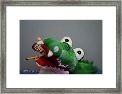 Tick Tock Crock Framed Print by Stefanie Silva