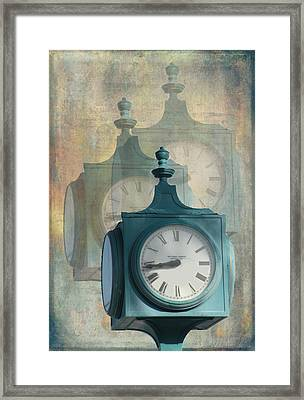 Tick Tock Version Two Framed Print by Rosalie Scanlon