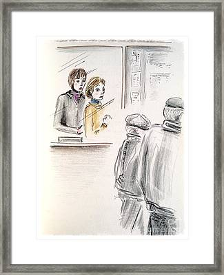 Ticket Booth Framed Print by Barbara Chase