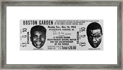 Ticket To World Championship Boxing Framed Print by Everett