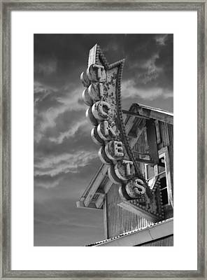 Framed Print featuring the photograph Tickets Bw by Laura Fasulo
