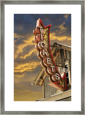 Framed Print featuring the photograph Tickets  by Laura Fasulo