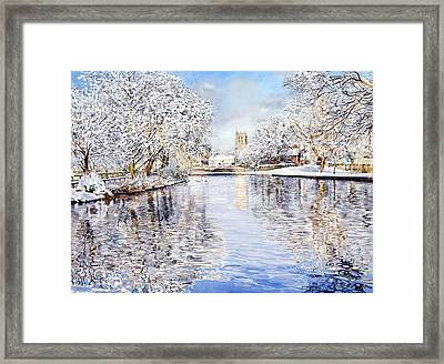 Tickhill Duck Pond Framed Print by Matthew Phinn
