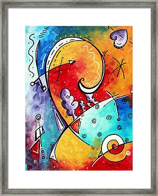 Tickle My Fancy Original Whimsical Painting Framed Print by Megan Duncanson
