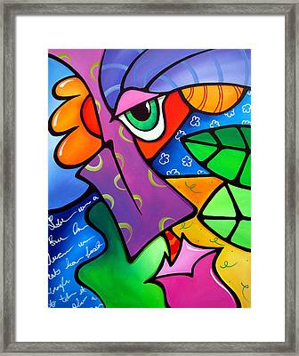 Tickle - Original Pop Art Framed Print by Tom Fedro - Fidostudio