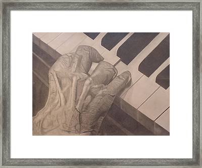 Tickling The Ivory Framed Print