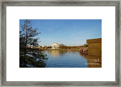 Tidal Basin And Jefferson Memorial Framed Print by Megan Cohen
