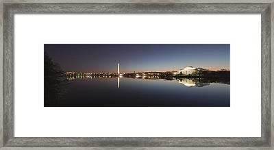 Tidal Basin At Night Framed Print
