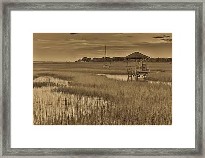 Tidal Creek Antique - Mt. Pleasant Sc Framed Print