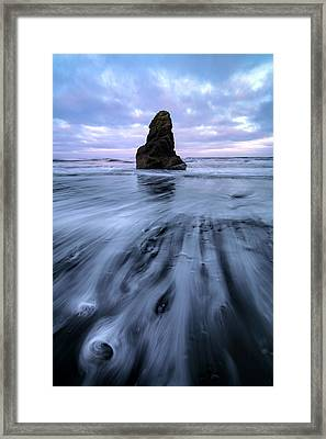 Framed Print featuring the photograph Tidal Dance II by Mike Lang