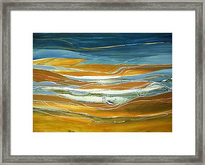 Tidal Flow Framed Print by Lois Mountz