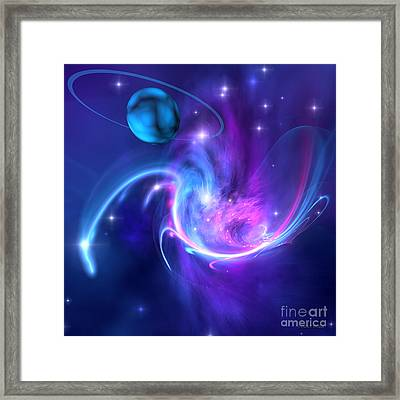 Tidal Forces Framed Print by Corey Ford